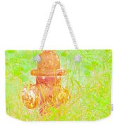 Fire Hydrant Watercolor Weekender Tote Bag