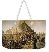 Fire In A Haystack, 1856 Weekender Tote Bag