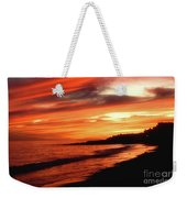 Fire In Sky Weekender Tote Bag