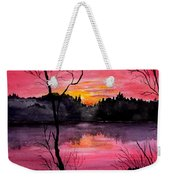 Fire In The Sky    Lake Arrowhead Maine Weekender Tote Bag