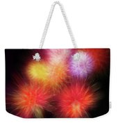 Fire Mums Floral - Fireworks Collage Weekender Tote Bag