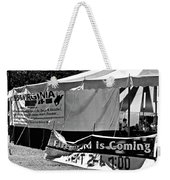 Fire Of God Is Coming Bw Weekender Tote Bag