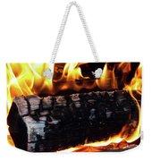 Fire On Wood Weekender Tote Bag