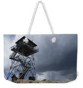 Fire Tower On Bald Mountain Surrounded Weekender Tote Bag