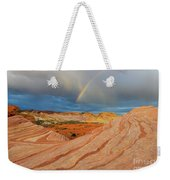 Fire Wave Rainbow Dawn Weekender Tote Bag
