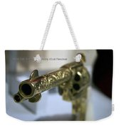 Firearms Gold Colt Single Action Army 45cal Revolver Weekender Tote Bag