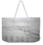 Firearms Lever Action Rifle Drawing Weekender Tote Bag