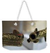 Firearms Pair Of Gold Colt Single Action Army 45cal Revolvers Weekender Tote Bag
