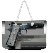 Firearms Smith And Wesson 1911 Semi Auto 45cal Pearl Handle Pistol Weekender Tote Bag
