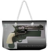 Firearms Tv Lone Ranger 45cal 1960 Colt Army Revolver Weekender Tote Bag