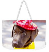 Firefighter Pup Weekender Tote Bag
