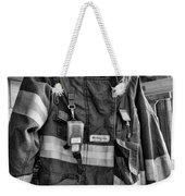 Fireman - Saftey Jacket Black And White Weekender Tote Bag