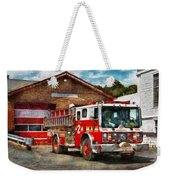 Fireman - Union Fire Company 1  Weekender Tote Bag by Mike Savad
