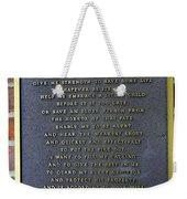 Fireman's Prayer Weekender Tote Bag