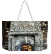 Fireplace At The Lodge Vertical Weekender Tote Bag