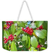 Firethorn Tree Weekender Tote Bag