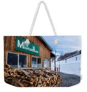 Firewood Ready To Burn In Fire Place Weekender Tote Bag