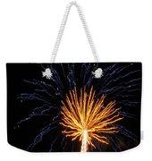 Firework Blue And Gold Weekender Tote Bag