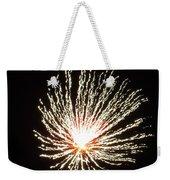 Firework White Fluff Weekender Tote Bag