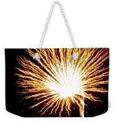 Firework Yellow Burst Weekender Tote Bag