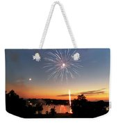 Fireworks And Sunset Weekender Tote Bag by Amber Flowers