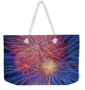 Fireworks Celebration Glow Square Weekender Tote Bag