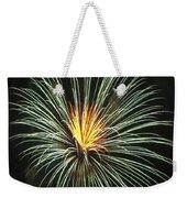 Fireworks Green Flower  Weekender Tote Bag