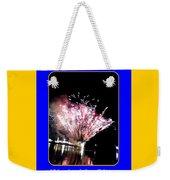 fireworks over San Rafael lake Weekender Tote Bag