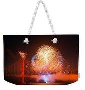 Fireworks Over The Golden Gate Bridge Weekender Tote Bag