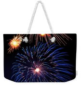 Fireworks Wixom 1 Weekender Tote Bag by Michael Peychich