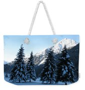 Firs In The Snow Weekender Tote Bag