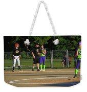 First Base Coach Weekender Tote Bag