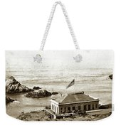First Cliff House  View Of Ropes From The Cliff House To Seal Rock Circa 1865 Weekender Tote Bag