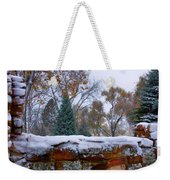 First Colorful Autumn Snow Weekender Tote Bag
