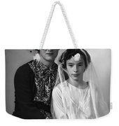 First Communion And Mom Weekender Tote Bag