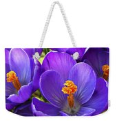 First Crocus Weekender Tote Bag