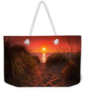 First Encouter Beach Sunset September 2017 Weekender Tote Bag