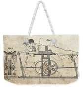 First Exercise Machine Patent Weekender Tote Bag