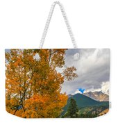 First Fall Colors In Rocky Mountain National Park Weekender Tote Bag