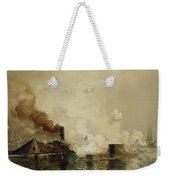 First Fight Between Ironclads Weekender Tote Bag by Julian Oliver Davidson