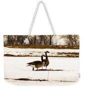 First Geese Of The Season Weekender Tote Bag