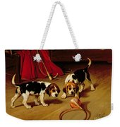 First Introduction Weekender Tote Bag by Wright Barker