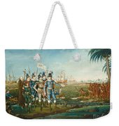 First Landing Of Christopher Columbus Weekender Tote Bag