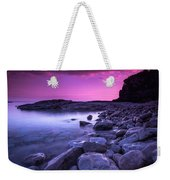 First Light On The Rocks At Indian Head Cove Weekender Tote Bag