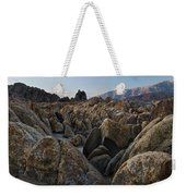 First Light Over Alabama Hills California Weekender Tote Bag