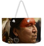 Pow Wow First Nations Man Portrait 1 Weekender Tote Bag
