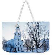 First Parish Church Manchester Ma North Winter Snow Weekender Tote Bag
