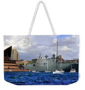 First Peak At Australia's Newest Warship Weekender Tote Bag