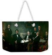 First Reading Of The Emancipation Proclamation Of President Lincoln Weekender Tote Bag