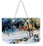 First Snowfall Weekender Tote Bag